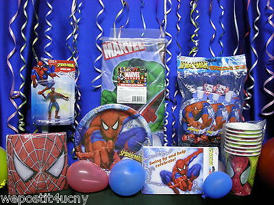 Spiderman Party Set 50 Pieces Spiderman Toy Cake Topper