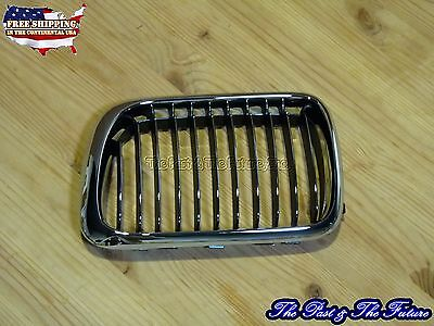 Bmw E36 3-series Front Grille Grill Chrome / Chrome Black Left Gb-gl-bm32000b2l