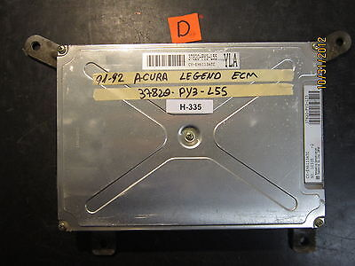 91 92 ACURA LEGEND ECU/ECM #37820-PY3-L55 *See item description*