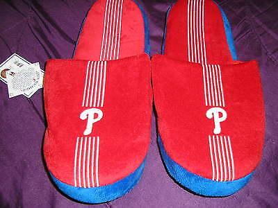 Philadelphia Phillies Mens Slip On Slippers Stripe