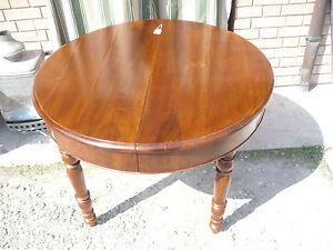 Tavolo in noce da sala pranzo allungabile rotondo 108 cm tondo restaurato 200 cm ebay - Tavolo pranzo rotondo allungabile ...
