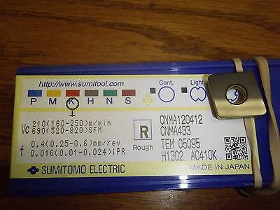 10 Sumitomo Cnma 433 Ac410k Carbide Inserts