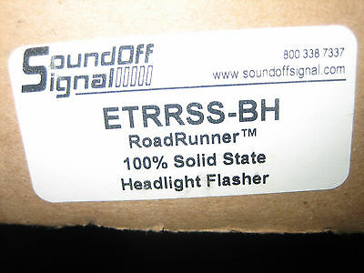 Sound Off Signal Headlight Flasher Etrrss-bh, 2 Available