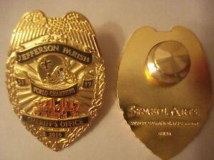 NEW-ORLEANS-SAINTS-JEFFERSON-PARISH-POLICE-SHERIFF-NFL-SUPER-BOWL-PIN-BADGE-LEE