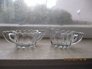 Heisey-Glass-Individual-Creamer-and-Open-Sugar-Bowl-Crystolite