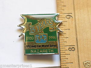 Indy-World-Series-15th-Anniversary-PPG-Racing-pin-1994-Vancover-Race-Track