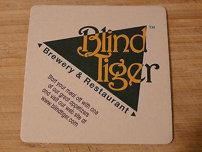 Beer Bar Coaster ~<>~ BLIND TIGER Brewing Company - Topeka, Kansas Craft Brewery