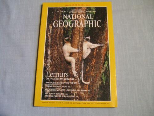 NATIONAL GEOGRAPHIC August 1988 LEMUR Annapolis FREDERIC REMINGTON South Korea