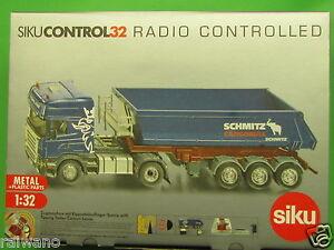 1:32 Siku Control 6725 Scania Zugmaschine mit Kippsattel Blitzversand DHL