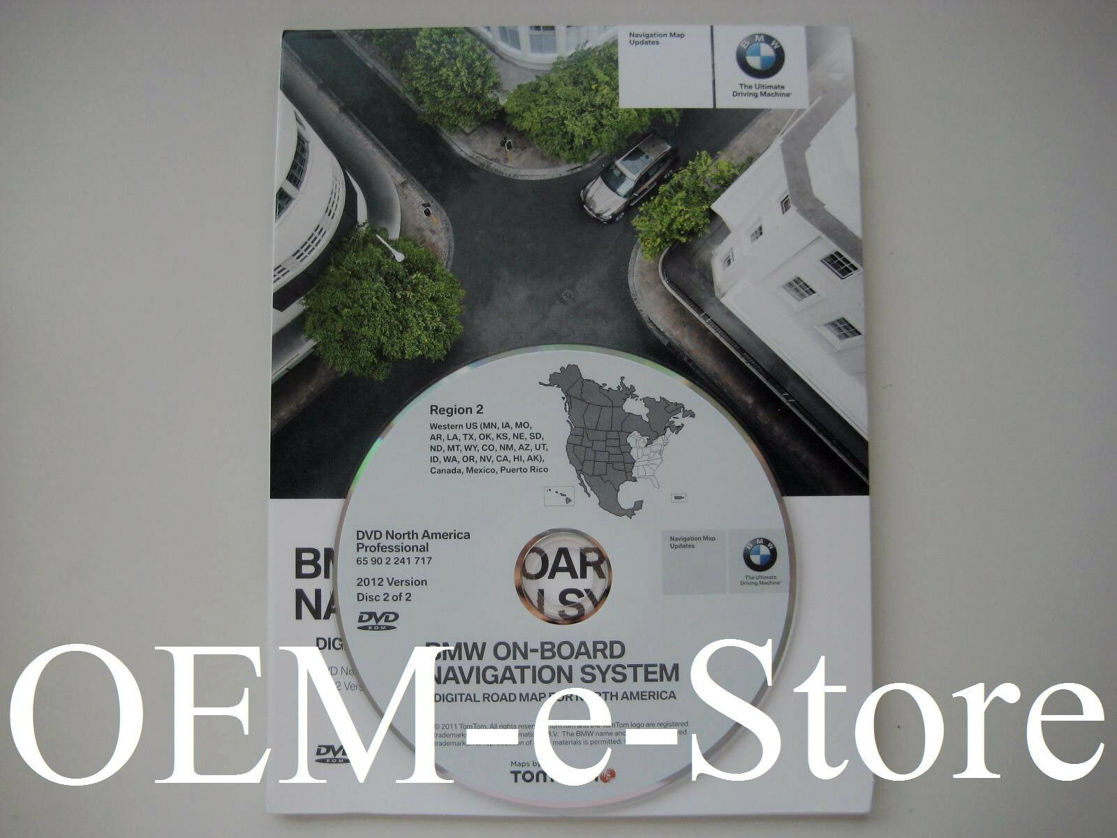 2012 Update West Coast For 2006 BMW 3 Series Sedan & Wagon Navigation DVD Map