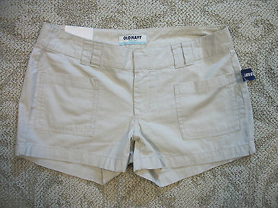 Old Navy Womens Light Khaki Beige Casual Cotton Shorts Sz 4