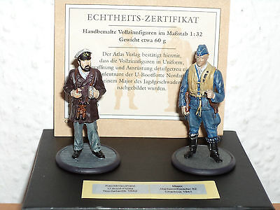 ATLAS Vollzinnfiguren Wehrmacht Kapitänleutnant 1942/ Major 1941  1:32 #103