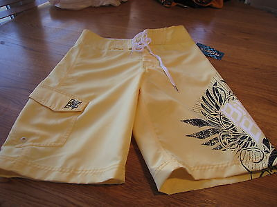 Men's Billabong Board Shorts Rn99064 Yellow 28 Surf Swim