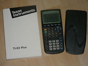 Texas-Instruments-TI-83-Plus-for-Biology-Graphic-Calculator-TI83-with-manual