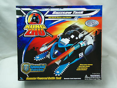 Zhu Zhu Pets Kung Zhu Buzzsaw Tank Special Forces With Missle Blaster