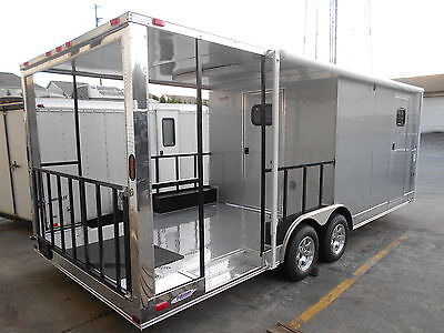 NEW 8 X 22 ENCLOSED SMOKER CONCESSION BBQ FOOD TRAILER NO WAITNG