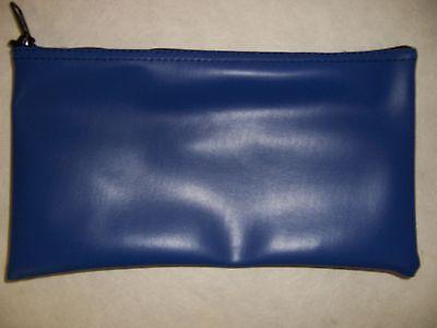 1 Brand New Royal Blue Blue Vinyl Bank Deposit Money Bag Tool Organizer