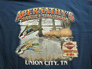 ABERNATHYS-HARLEY-DAVIDSON-T-SHIRT-UNION-CITY-TENNESSEE-REELFOOT-LAKE-NEW