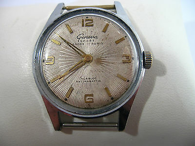 Vintage Geneva Sport Ancre  17 Rubis Incabloc Swiss Made Watch  #491 on Rummage