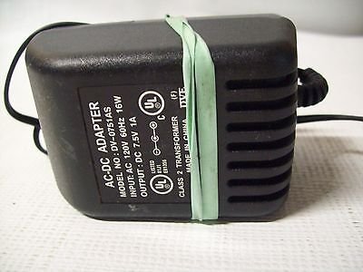 AC-DC Adapter 120V 60 Hz DV-0751AS