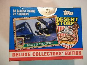 1991 Topps Desert Storm Card Complete Factory Sealed Set!!!!!