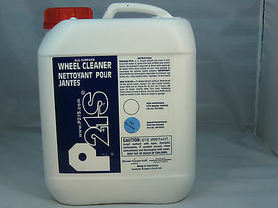 P21S® WHEEL CLEANER 5 LITER CANISTER GEL CHROME ALLOY FREE SPONGE RECOMMENDED