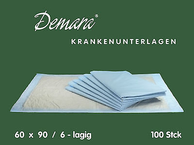 Krankenunterlagen 60x90 / 6-lagig Wickelunterlagen Betteinlagen Matratzenschutz