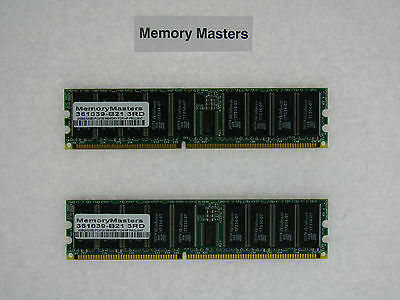 361039-b21 4gb (2x2gb) Pc2700 Memory For Hp Proliant