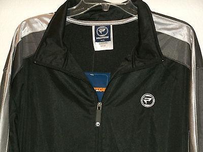 Protege Men's Workout / Warm Up Zip Front Black Jacket Size Xlarge