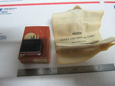 Vintage Wwii Bliley Quartz Crystal Ax3 25423.0 Kc Box Frequency Radio Ham
