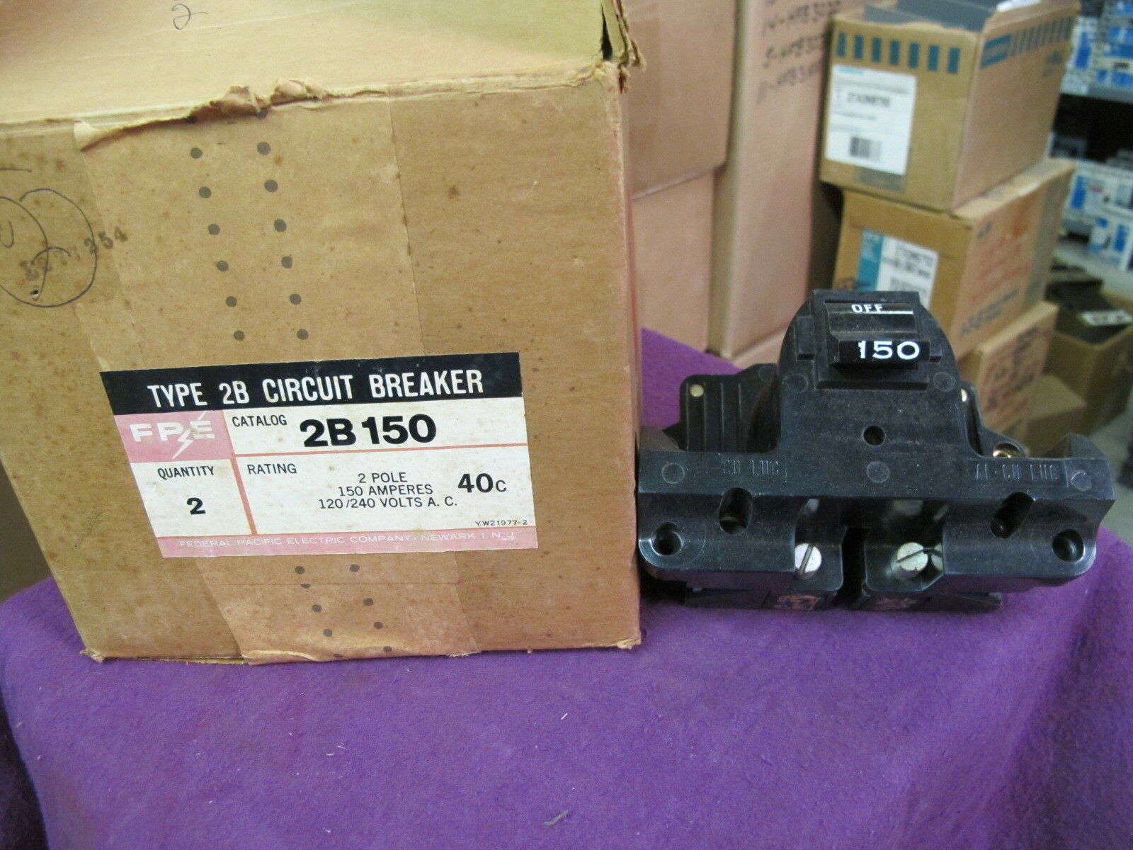 Fpe 2b150, 150 Amp Main Circuit Breaker-