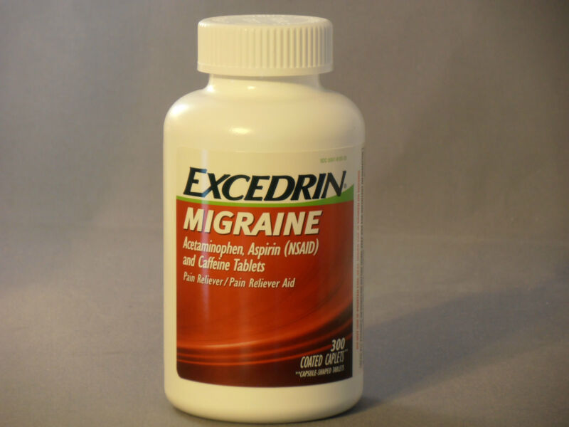 300 ct Excedrin Migraine Coated Caplets Headache Pain Reliever New Sealed