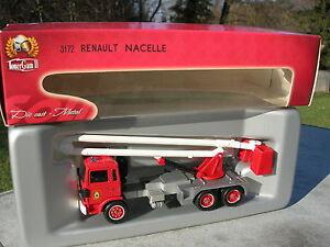 solido pompier camion renault s170 aeoroport nacelle d gelage avion ebay. Black Bedroom Furniture Sets. Home Design Ideas