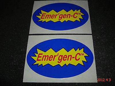 2 Authentic Emergen-c Energy Drinks Stickers / Decals / Aufkleber