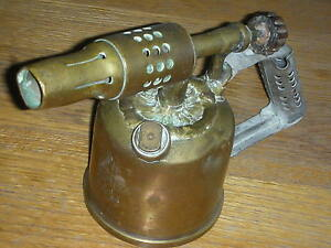 ancien lampe souder chalumeau en cuivre vesta f j paris old lamp blowtorch ebay. Black Bedroom Furniture Sets. Home Design Ideas