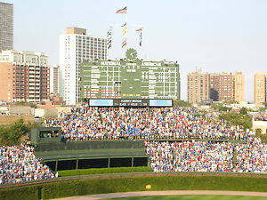 2 Bleacher Tix - BONUS VIP Early Entrance Chicago Cubs vs Diamondbacks 4/24/14