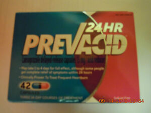 NEW FACTORY BOX  PREVACID 24 HOUR ~ 42 COUNT CAPSULES EXP 02/2015 slight damage