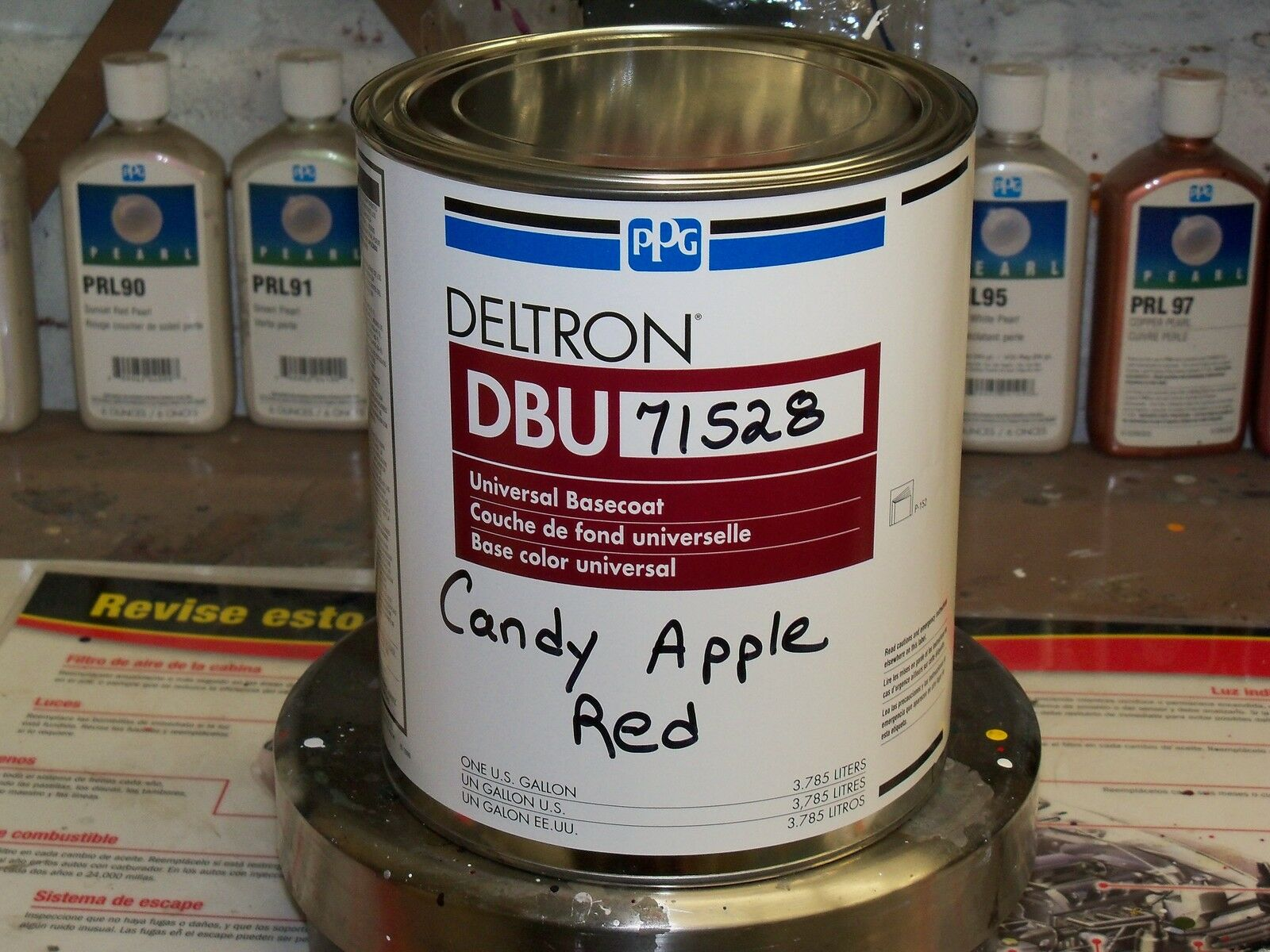Ppg Deltron Dbu71528 Candy Apple Red Ford Code T 2e Ford Mustang Lincoln Mercury New For Sale