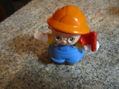 Fisher Price Little People construction worker village Maggie girl glasses flag - Village People Construction Worker