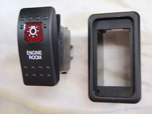 ENGINE-ROOM-SWITCH-WITH-VMS-PANEL-BOAT-CARLING-V1D1-1-RED-LENS-BLACK-CONTURA-II