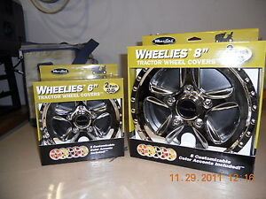 LAWN TRACTOR MOWER HUBCAPS WHEELIES  2(6
