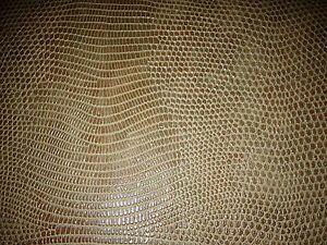 Kunstleder Meterware Reptil Prägung SCHLANGE KOBRA Camel 1A Qualität 140cm breit