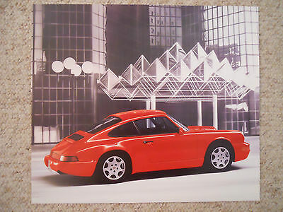 1989 Porsche 911 Carrera 4 Coupe Showroom Advertising Poster RARE!! Awesome L@@K