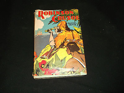 Vintage ROBINSON CRUSOE By Daniel Defoe HC & DJ Goldsmith Publishing on Rummage