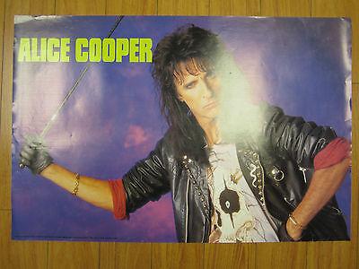 Alice Cooper Rock N Roll Original Vintage 1989 Poster 142 A