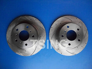 Holden Commodore VR-VS Front Disc Rotors Slotted & Drilled V6 & V8