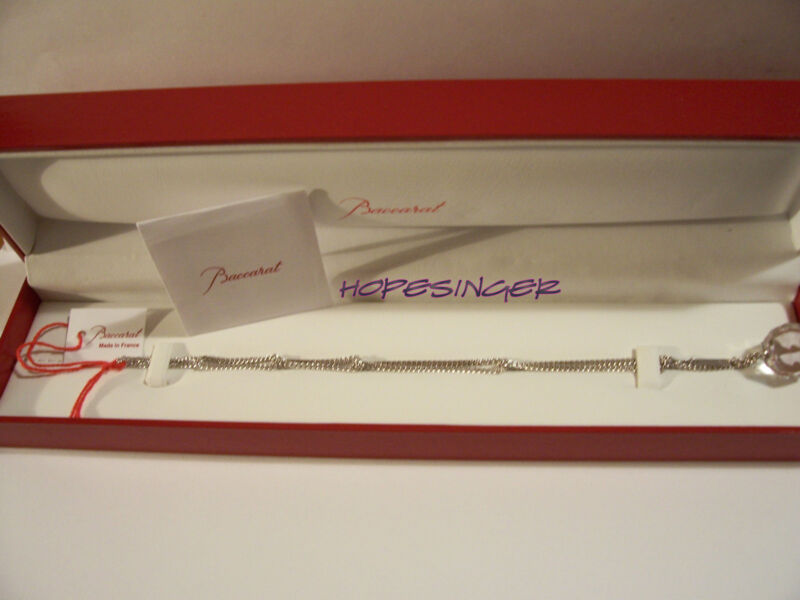 Hard To Find NEW in BOX BACCARAT Crystal FACETTES BRACELET CLEAR $580 FS