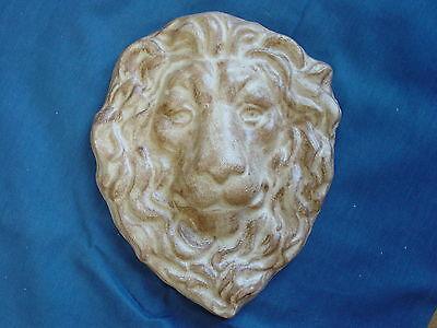 Lion Head Face Plaque Concrete Cement Plaster Garden Mold 7214