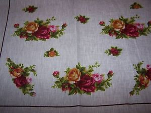 Royal Albert Old Country Roses Tea Towel  / Teatowel, 100% Linen, Large, New.