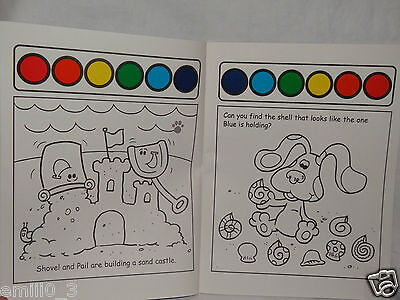 BLUES CLUES PAINT AND WATER COLORING BOOK A DAY AT THE BEACH